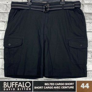 NEW Buffalo Size 44 Belted Rip Stop Cargo Shorts